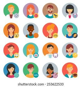 Professions, vector avatars set