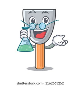Professor character putty knife isolated