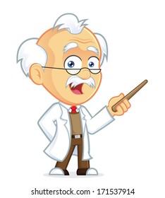 Professor Holding a Pointer Stick