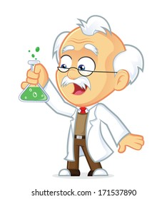 Professor with Lab Glass