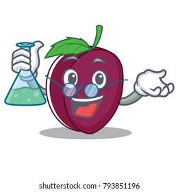 Professor plum character cartoon style