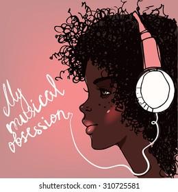 Black girl cartoon profile pics
