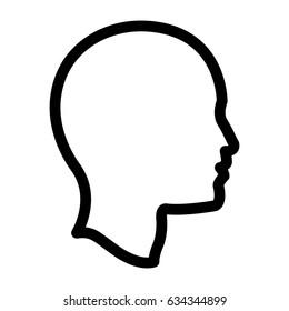 profile head human man outline
