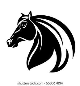 Black Horse Logo Stock Vector Royalty Free 646148629 Shutterstock