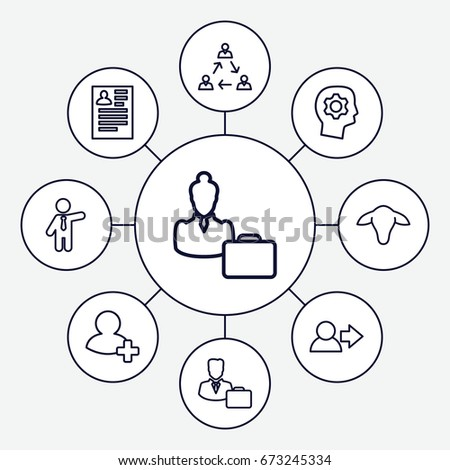 profile icons set set 9 profile stock vector royalty free Case Worker Resume Example profile icons set set of 9 profile outline icons such as goat businessman