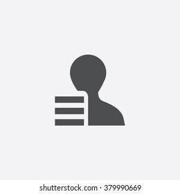 profile list Icon Vector