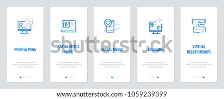 Profile Page Social Media Video Social Stock Vector Royalty Free
