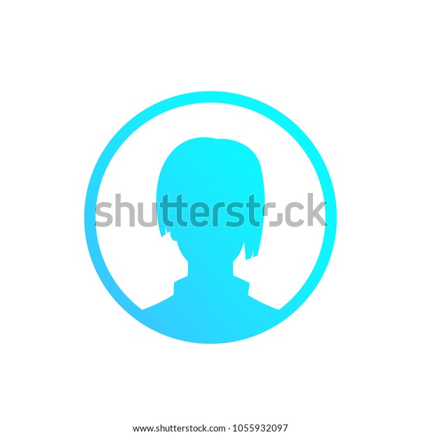 Profile Placeholder Default Avatar Girl Stock Vector (Royalty Free