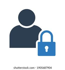 profile security lock icon sign symbol