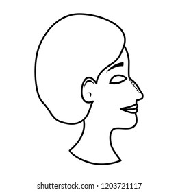 profile of woman with ugly nose and surgery cap