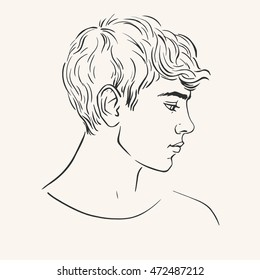 Curly Hair Male Model Stock Vectors Images Vector Art Shutterstock