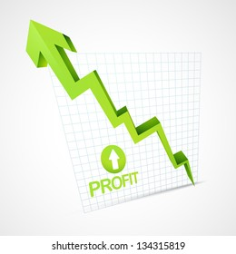 profit arrow going up vector illustration