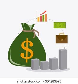 Profit business design, vector illustration eps 10.