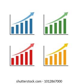 Profit Chart Symbol Design Vector