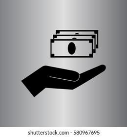 Profit icon, cash vector illustration