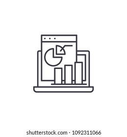 Profit and Loss Statement linear icon concept. Profit and Loss Statement line vector sign, symbol, illustration.