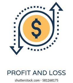 Profit and Loss Vector Icon