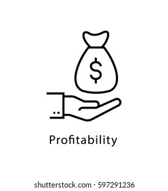 Profitability Vector Line Icon