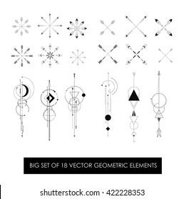 Profitably pack of 18 high quality geometric elements. Sacred geometry.