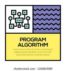 PROGRAM ALGORITHM ICON CONCEPT