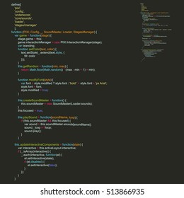 Program Code Listing, Abstract Programming Background. Vector