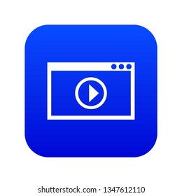 Program for video playback icon digital blue for any design isolated on white vector illustration