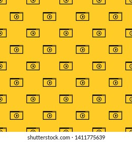 Program for video playback pattern seamless vector repeat geometric yellow for any design