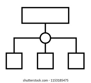 programmer planning or sitemap workflow thin line icon. flat stytle. sitemap icon for your web site design, logo, app, UI. sitemap line sign.