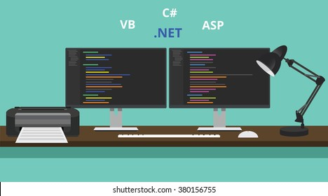 programmer workspace visual studio .net technology asp .net vb visual basic
