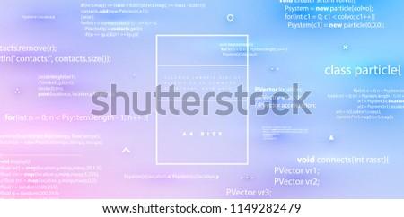 Programming Code Software App Development Concept Stock Vector