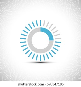Progress indicator Bar. Load Download Web preloader. Halftone background Vector Illustration.