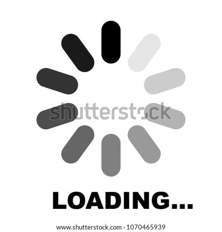 Progress Loading Icon Downloading Sign Data Stock Vector Royalty