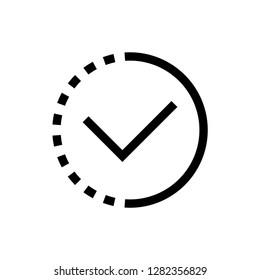 in progress outline icon vector