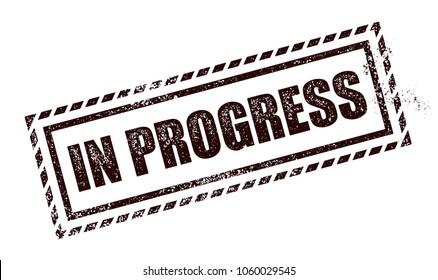 In Progress Stamp