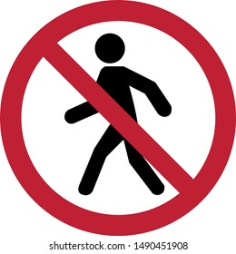Prohibit people from passing,Vector Illustration