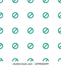 prohibited icon pattern seamless white background. Editable filled prohibited icon. prohibited icon pattern for web and mobile.
