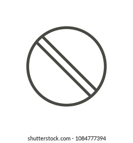 Prohibited icon vector. Line no symbol isolated. Trendy flat outline ui prohibition sign design. Thin linear graphic pictogram for web site, mobile app. Logo illustration. Eps10.