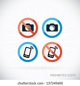 Prohibited Icons Illustration, Sign, Symbol, Button, Badge, Logo for Family, Baby, Children, Teenager, People