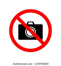 prohibited photograph icon. Element of prohibited sign for mobile concept and web apps. Sign of prohibited photograph icon can be used for web and mobile