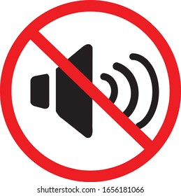 Prohibiting signs.Do not make a loud noise.