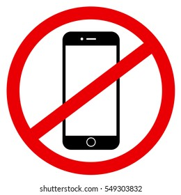 Prohibition and ban of usage of modern digital device, smartphone, because of negative effects - phubbing, overuse and abuse of technology