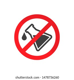 prohibition of chemical additives vector sign