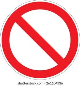 Prohibition / forbidden sign. Vector illustrations