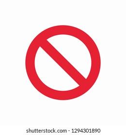 Prohibition icon vector