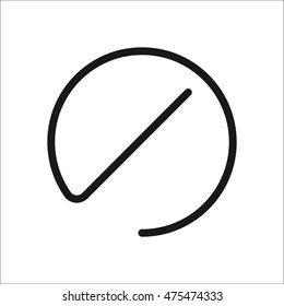 Prohibition no symbol, warning and stop symbol sign one line icon on background