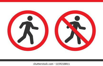 Prohibition pedestrians sign
