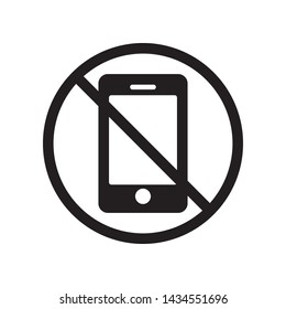 Prohibition phone icon in trendy flat style design. Vector graphic illustration. Suitable for website design, logo, template, and ui. EPS 10.