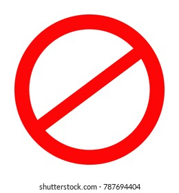 "Prohibition road sign, Stop icon, No symbol, Don""t do it, Danger"
