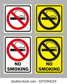 Prohibition sign NO SMOKING