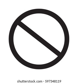 prohibition sign on white background. prohibition sign.
